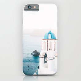 Santorini Greece Mamma Mia Church Photography iPhone Case