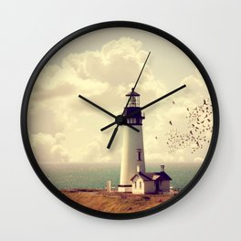Vintage Lighthouse Wall Clock