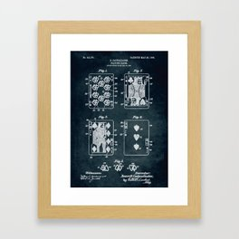 1904 - Playing cards patent art Framed Art Print
