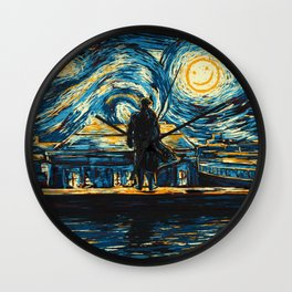 Starry Night Sherlock Holmes Art Painting Wall Clock