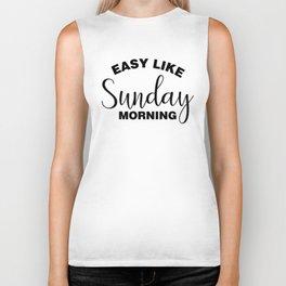 Easy Like Sunday Morning Biker Tank