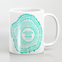 My List – Turquoise Ombré Coffee Mug
