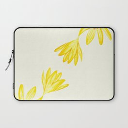 yellow botanical crocus watercolor Laptop Sleeve