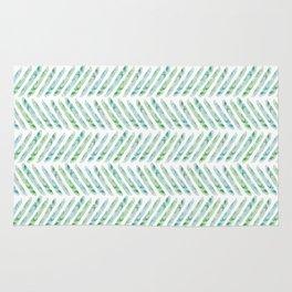 Aquamarine Herringbone Rug