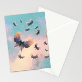 Happiness is a butterfly Stationery Cards