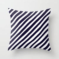 uncharted Throw Pillows featuring Uncharted Lines by Social Proper