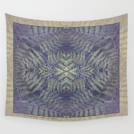 SYMMETRICAL PASTEL PURPLE BRACKEN FERN MANDALA Wall Tapestry