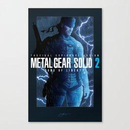 "Metal Gear Solid 2 ""Tanker Storm"" Poster Canvas Print"