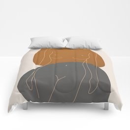 Line Female Figure 81 Comforters