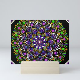 Sea Flower Mandala Mini Art Print