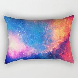 Colorful Galaxy Nebula Pattern Rectangular Pillow
