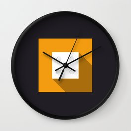 "Dice ""five"" with long shadow in new modern flat design Wall Clock"