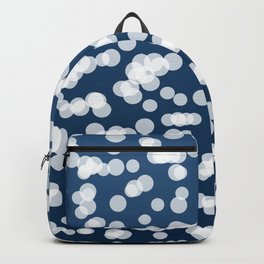 Blurry Lights: Dark Blue Backpack