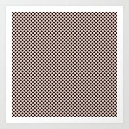 Pale Dogwood and Black Polka Dots Art Print