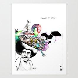 Viento en Popa Art Print