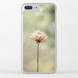 Deadly dandelion Clear iPhone Case