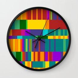 Chopin Prelude (Bright Colours) Wall Clock