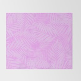 Palm Leaves - Orchid Pink Throw Blanket