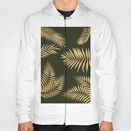 Golden and Green Palm Leaves Hoody