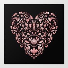 Ornate Heart Canvas Print