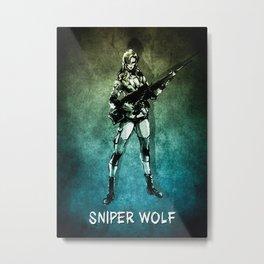 MGS Sniper Wolf Metal Print