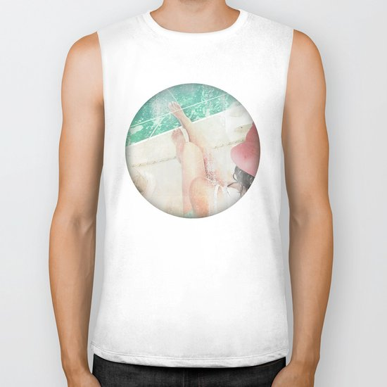 peace and tranquility Biker Tank