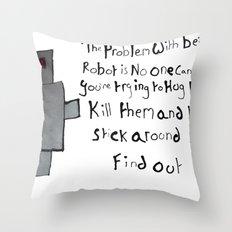 Robot Problems Throw Pillow