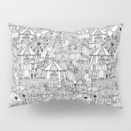 retro circus black white Pillow Sham