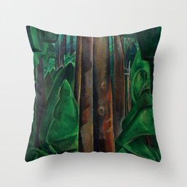 Emily Carr - Inside a Forest II - Canada, Canadian Oil Painting - Group of Seven Throw Pillow