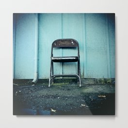 Outdoor seating Metal Print