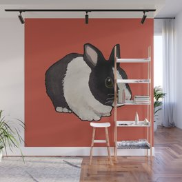 Tuxedo Bunny Floofmeister Wall Mural