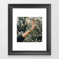 Touch the spring Framed Art Print