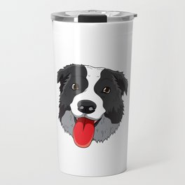 Love Is Border Collie Collies Lover Herding Sheepdog Travel Mug