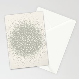 butterflies flying in a circle scatter in different directions. pastel Stationery Cards