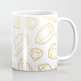 Gold and White Gemstone Pattern Coffee Mug