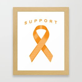 Orange Awareness Ribbon Framed Art Print