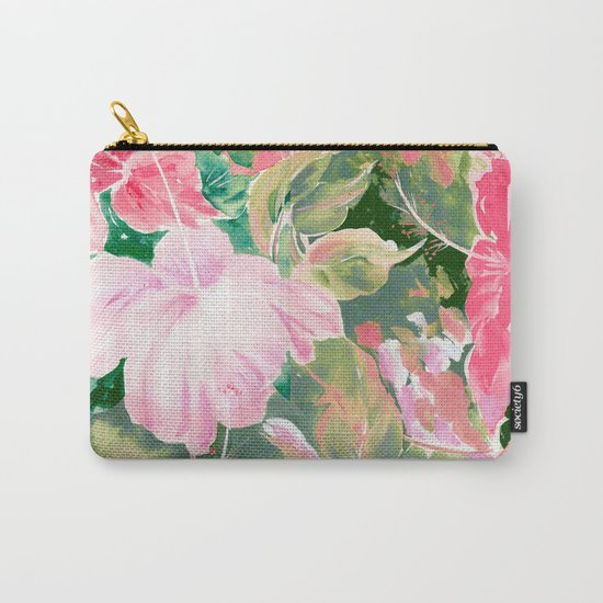hibiscus tropical watercolor Carry-All Pouch