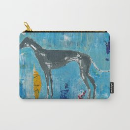 Greyhound Dog Abstract Painting Carry-All Pouch