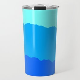 Minimal Mountain Range Outdoor Abstract Travel Mug