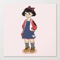 kiki Canvas Prints featuring Kiki by Luchie