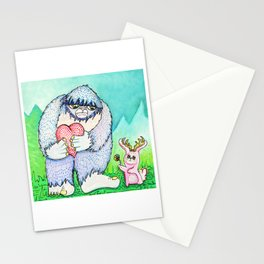 The Bigfoot and The Jackalope Stationery Cards