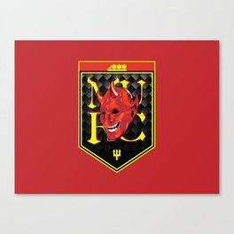 Man Red badge Canvas Print