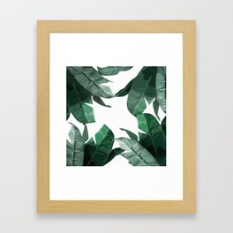Banana Leaf Print Framed Art Print