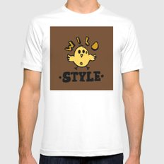 wild style White Mens Fitted Tee MEDIUM