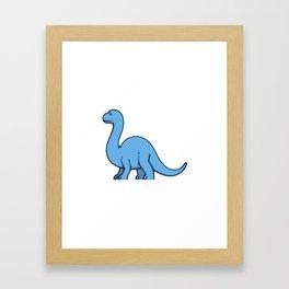 DinoKids Bronto - Blue Framed Art Print