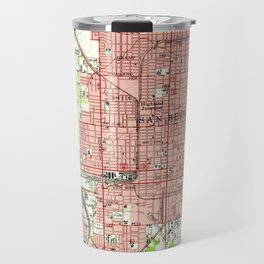 Vintage Map of San Bernardino California (1954) Travel Mug