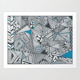 Geometric and triangular Art Print