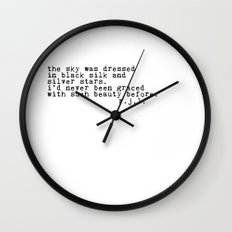 Typewriter Thoughts #2 - the sky Wall Clock