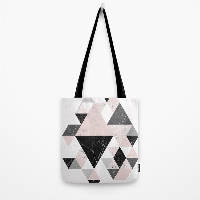 Triangle pattern modern geometric abstract ll Tote Bag