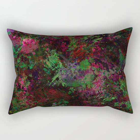 Purple Warfare - Abstract purple, pink, green and black abstract Rectangular Pillow